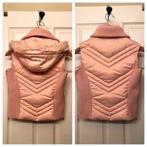 bebe Jackets & Coats - Bebe pink puffy down vest